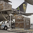 loading large shipments on board UPS aircraft