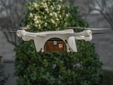 UPS Flight Forward Drone Delivering a Package