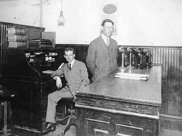 UPS co-founders Jim Casey and Claude Ryan in their office.
