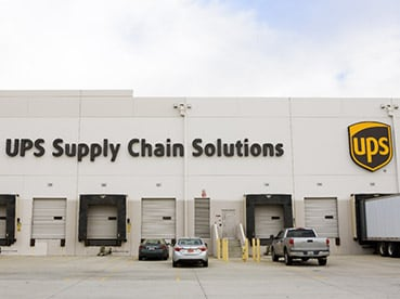 Exterior view of UPS Supply Chain Solutions.