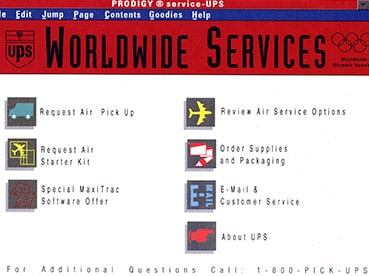 How UPS.com looked in 1994.