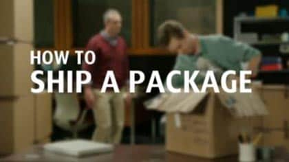 Focus on preparation and packaging when preparing a package for shipping.
