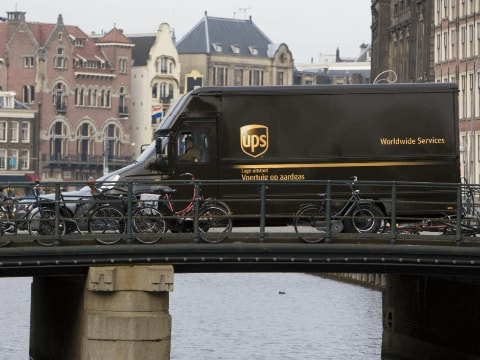 Package car in Amsterdam