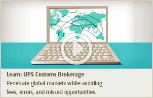UPS Customs Brokerage
