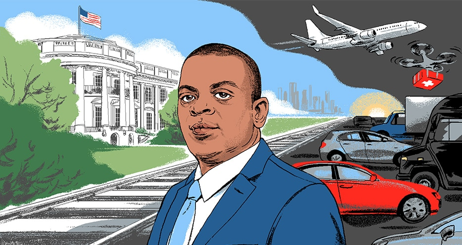 artistic rendering of Anthony Foxx
