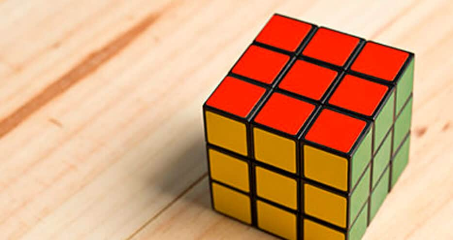 A Rubik's cube solved correctly