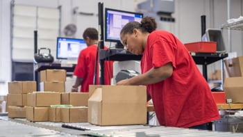 Fast fulfillment assembly line managed at UPS distribution facility