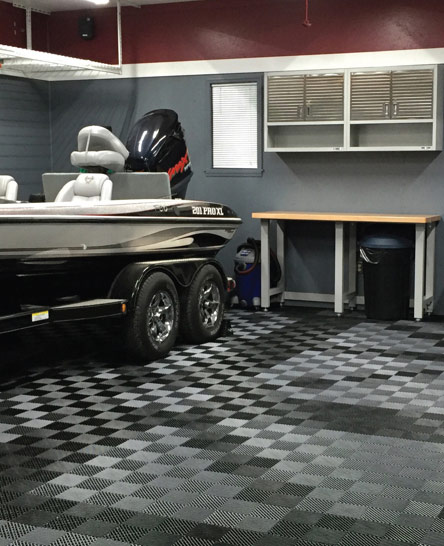 Awesome flooring in dream garage