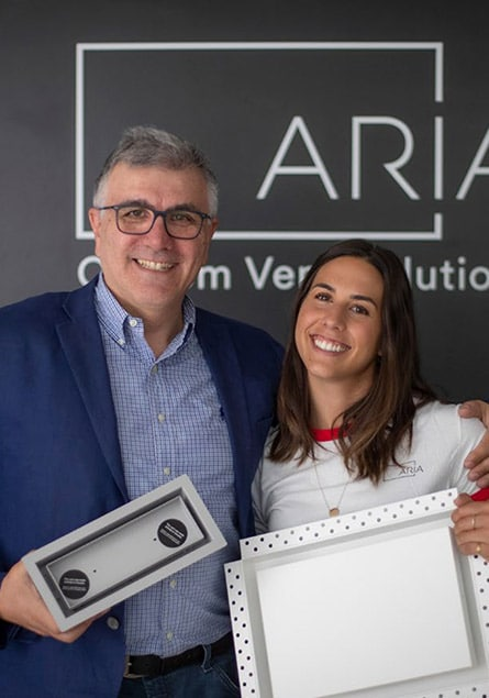 Father-daughter entrepreneurs show off designer air vent
