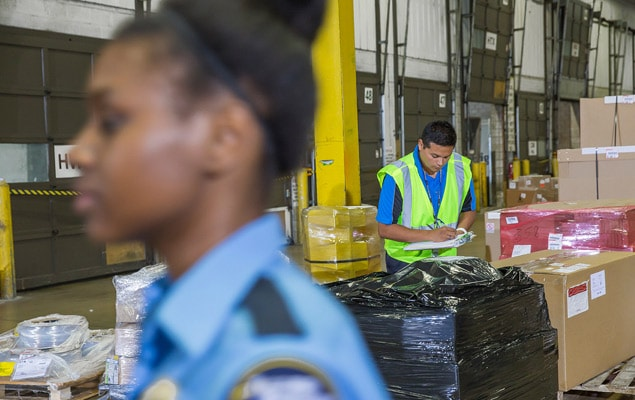 Customs brokerage agents clearing shipments