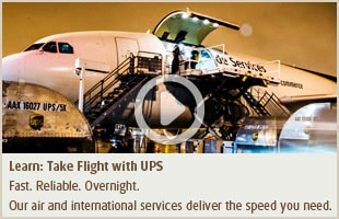 UPS overnight document shipping for professional services