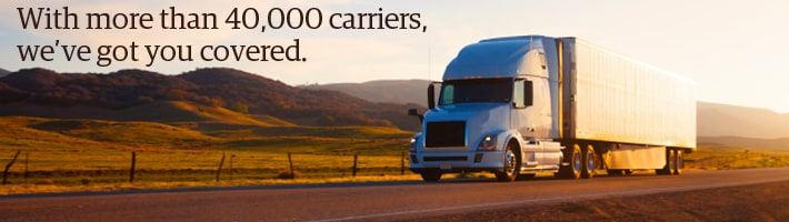 With more than 40,000 carriers, we've got you covered.