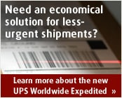 Learn more about the new UPS Worldwide Expedited