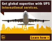 UPS can help with international shipping