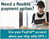 Use your PayPal account when you ship with UPS
