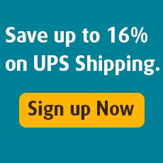 Save up to 16% on UPS shipping.