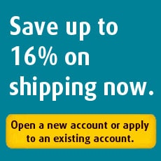 Save up to 16% on shipping now.