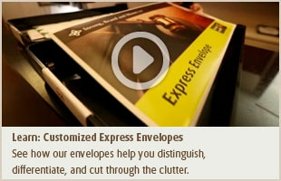 customized UPS express envelopes for overnight shipping