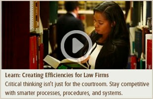 Learn: Creating Efficiencies for Law Firms