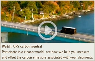 Watch: UPS carbon neutral