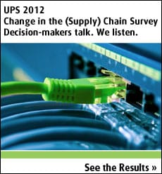 UPS 2012 Change in the (Supply) Chain Survey