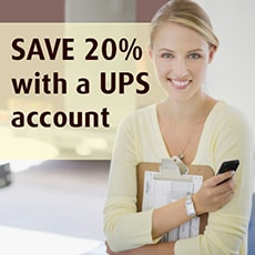Ship with a UPS account, save 20%
