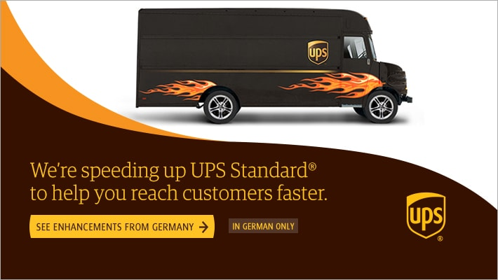 UPS Standard helps you reach customers faster