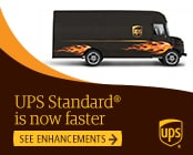 Shipping with UPS Standard is even faster