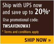 Ship with UPS and save 20%