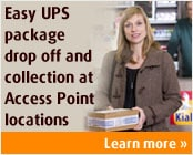 Easy UPS package drop off and collection at Kiala Points