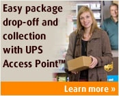 Easy package drop-off and collection with UPS Access Point™