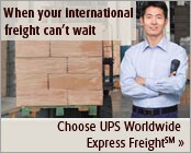 Choose UPS Worldwide Express Freight