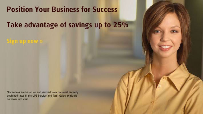 Take advantage of savings up to 25% UPS Shipments