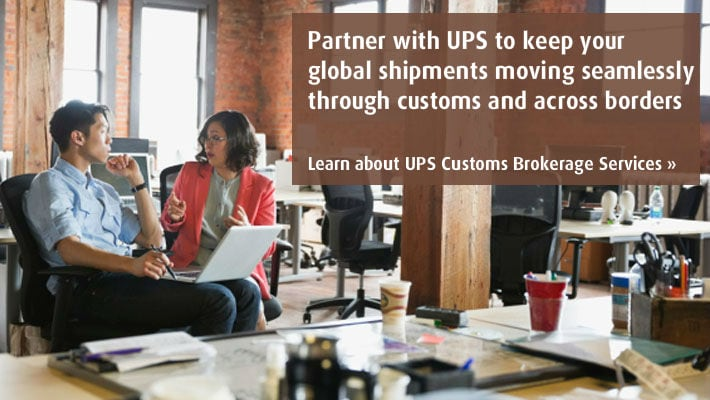 Learn about UPS Customs Brokerage Services