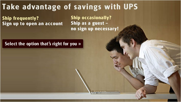 Take advantage of savings with UPS