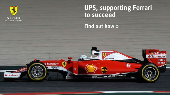 UPS, supporting Ferrari to succeed