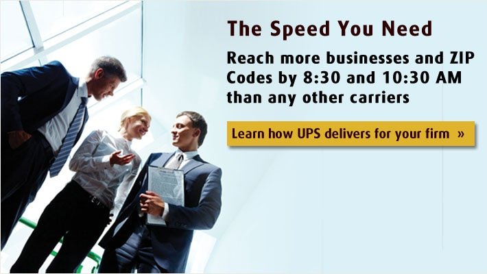 Learn how UPS delivers for your firm.