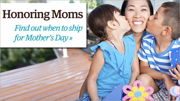 Find out when to ship for Mother's Day