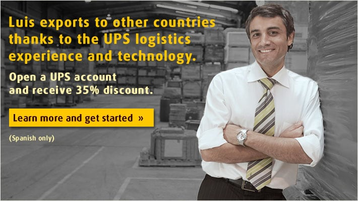 Open a UPS account and receive 35% discount.
