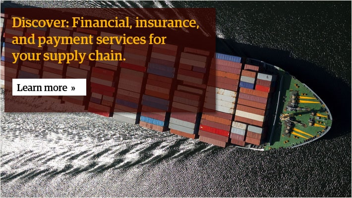 Discover: Financial, insurance, and payment services for your supply chain.