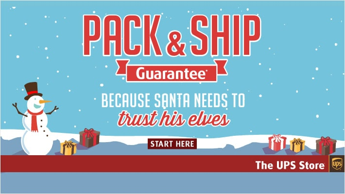 The UPS Store: Pack and Ship Guarantee
