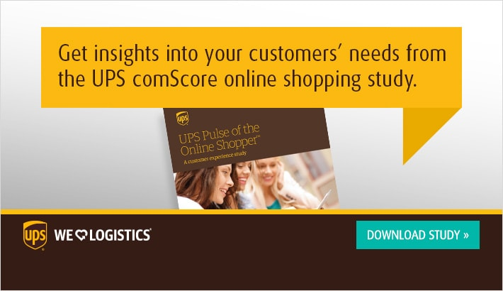 Get insights into your customers needs from the UPS comScore online shopping study