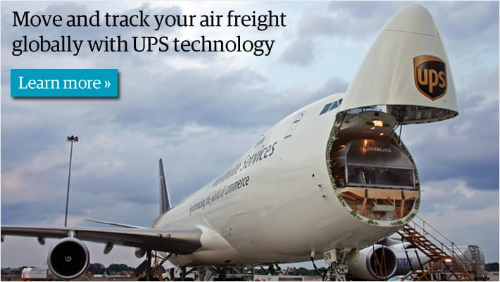 Move and track your air freight globally with UPS technology