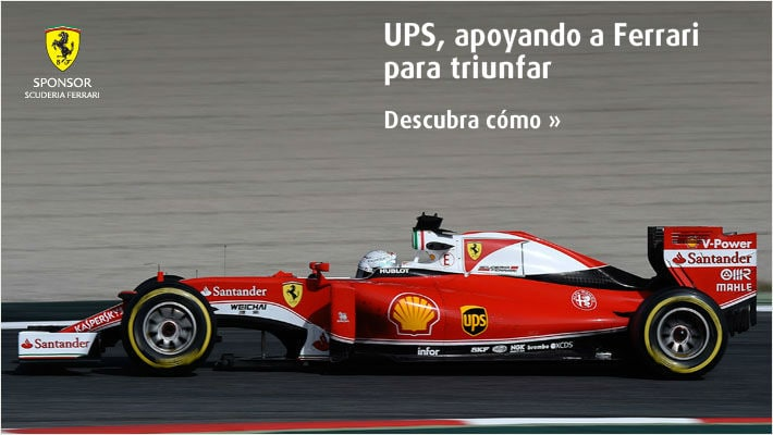 UPS, supporting Ferrari to succed