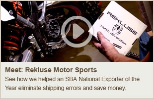 Rekluse Motor Sports Exports with Help from UPS