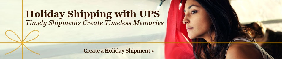 Holiday Shipping UPS